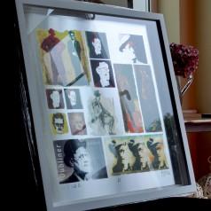 JJ (James Joyce) Framed White