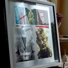 SB (Samuel Beckett) Framed White