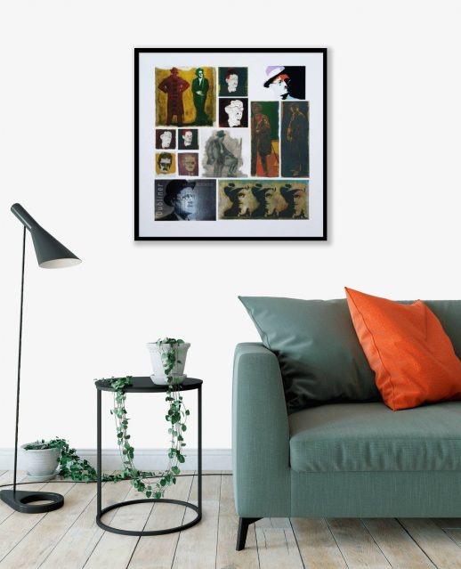 James Joyce – Giclée Edtn framed in room